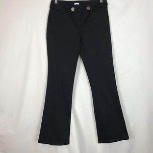 CACHE' BLACK STRETCH BOOTCUT PANTS